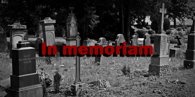 Ein Friedhof - In memoriam.