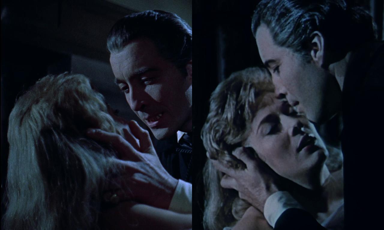 Dracula hält Mina in seiner Hand