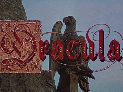 Der blutrote Titelschriftzug von Hammers Dracula
